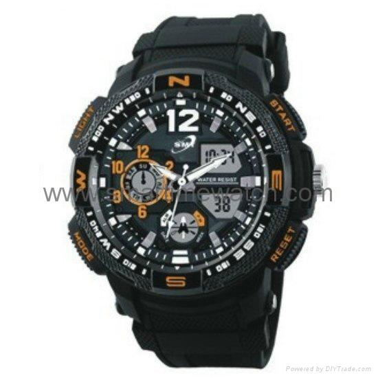 Analog Digital Sport Waterproof Watch SMT-2002 4