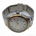 Alloy Case Watch , Golden Ring with Calendar SMT-1500 3