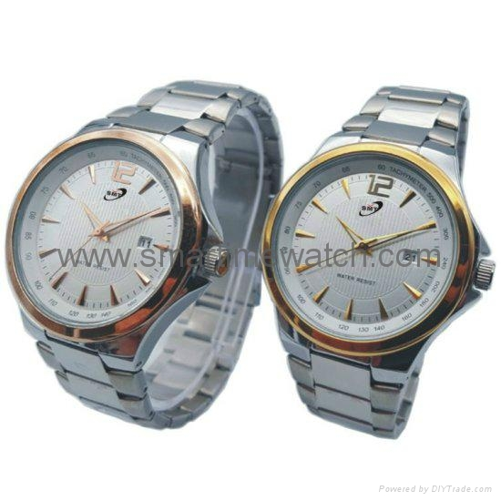 Alloy Case Watch , Golden Ring with Calendar SMT-1500 2
