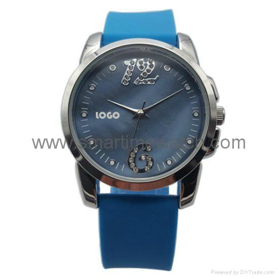 Alloy Fashion 3 hands Analog Man Silicone Wristband Watch, SMT-1507   1