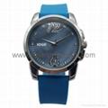 合金時尚簡約三針珍珠貝表面手錶