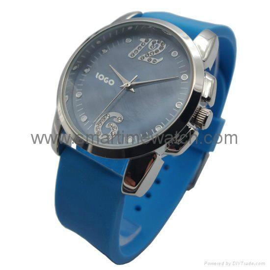 合金時尚簡約三針珍珠貝表面手錶 SMT-1507 2