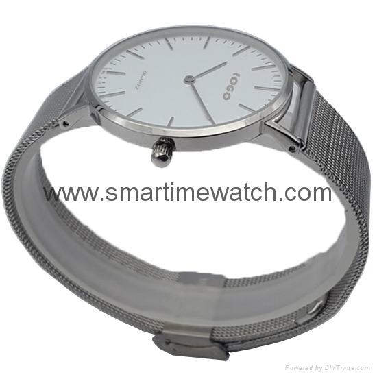 合金時尚超薄鋼網織帶手錶 SMT-5500 3