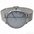 合金時尚超薄鋼網織帶手錶 SMT-5500 4