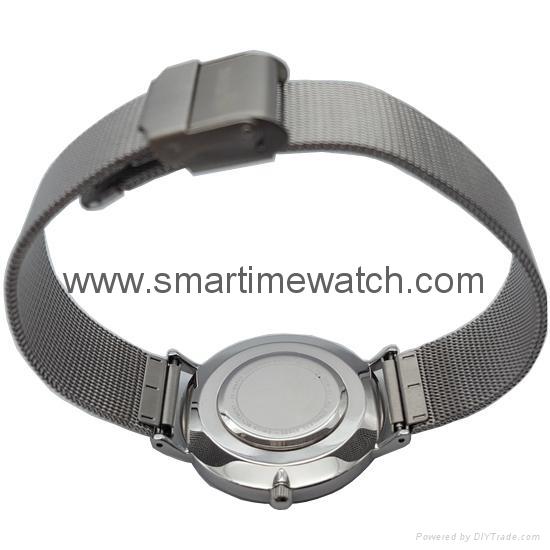 合金時尚超薄鋼網織帶手錶 SMT-5500 5