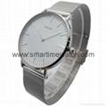 合金時尚超薄鋼網織帶手錶 SMT-5500 2