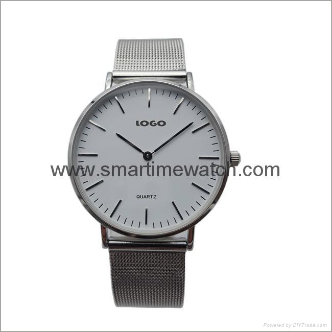 合金時尚超薄鋼網織帶手錶 SMT-5500 1