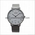合金时尚超薄钢网织带手表 SM