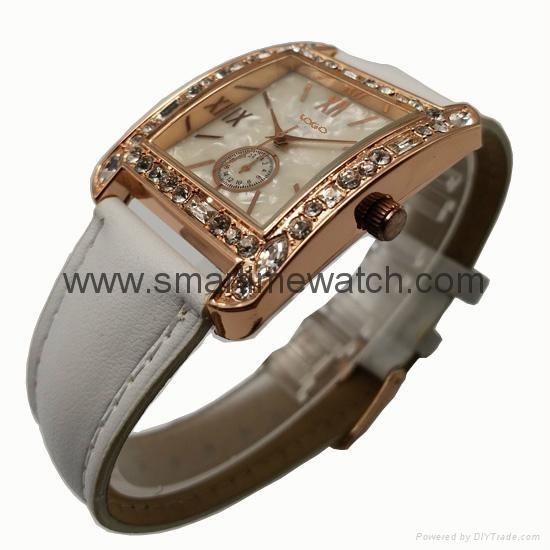 玫瑰金色合金殼水鑽時尚手錶 SMT-1510 4