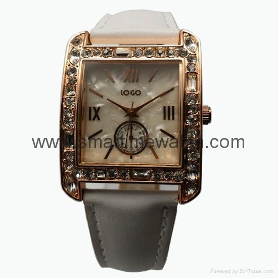 玫瑰金色合金殼水鑽時尚手錶 SMT-1510 1
