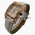 Rose Gold Color, Crystal Diamond Alloy Case Fashion Watch SMT-1510  2