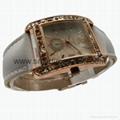Rose Gold Color, Crystal Diamond Alloy Case Fashion Watch SMT-1510  3