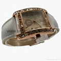 Rose Gold Color, Crystal Diamond Alloy Case Fashion Watch SMT-1510