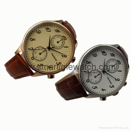 Stainless Steel Day Week Hour Min. Sec. Fashion Watch SMT-1005  4