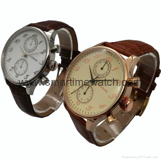 Stainless Steel Day Week Hour Min. Sec. Fashion Watch SMT-1005  2