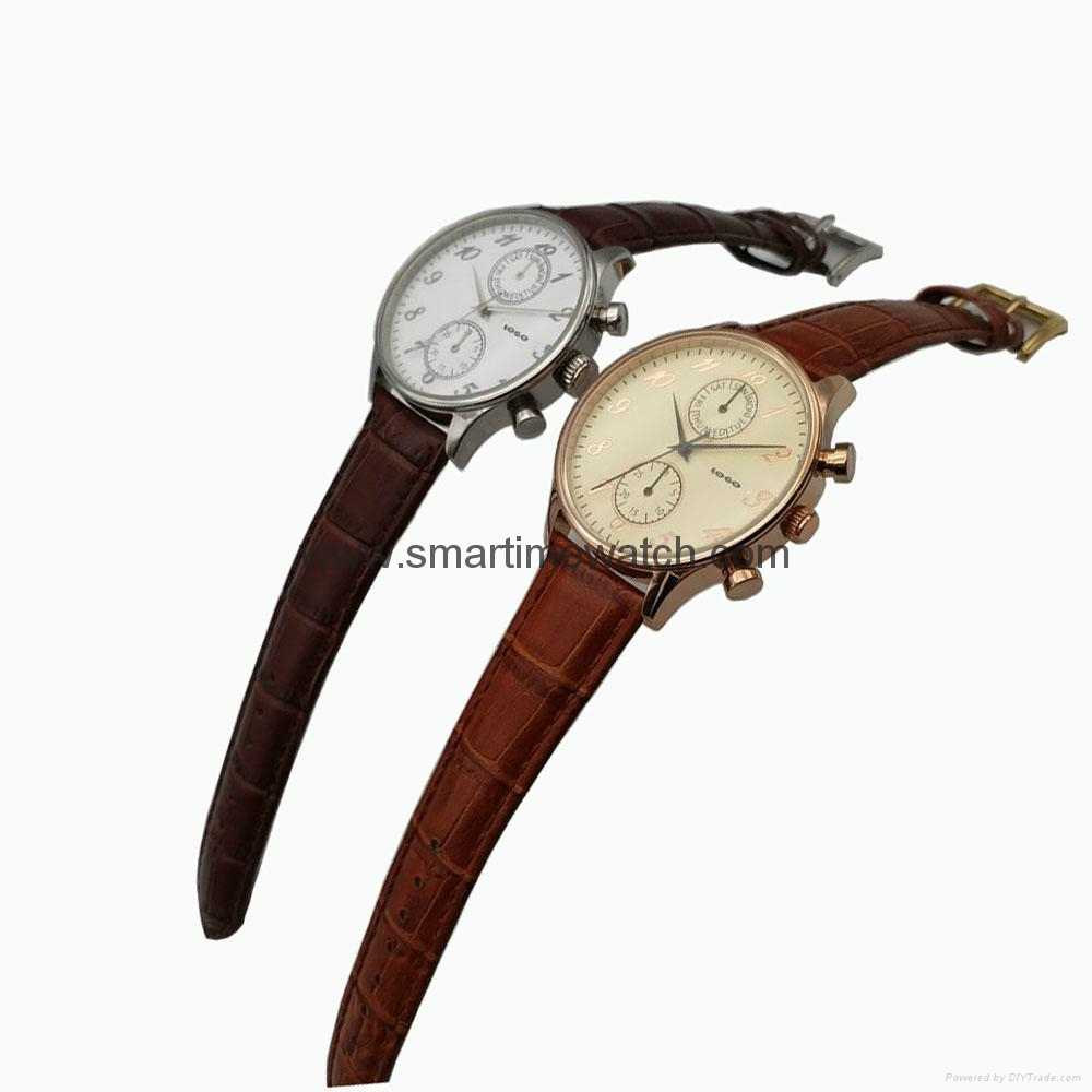 Stainless Steel Day Week Hour Min. Sec. Fashion Watch SMT-1005  5