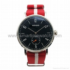 Stainless Steel Nylon Strap Fashion Watch SMT-1007