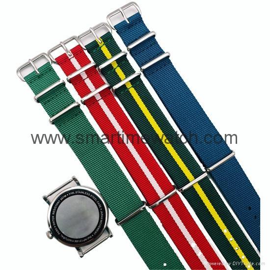 Stainless Steel Nylon Strap Fashion Watch SMT-1007 5