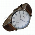 Stainless Steel Real Leather Strap Fashion Watch SMT-1008 5