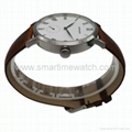 Stainless Steel Real Leather Strap Fashion Watch SMT-1008 4