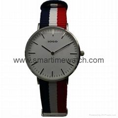 不鏽鋼時尚尼龍帶手錶 SMT-1006