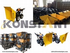 6.5HP Loncin Engine Power Wheelbarrow High Quaity Mini Dumper