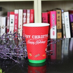 Christmas double walls paper coffee cups