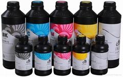 Fluorescent uv led ink for DX5 printheads