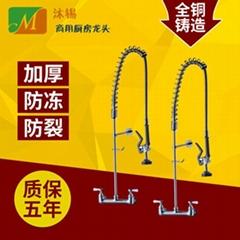 歐美廚房專用高壓花灑水龍頭