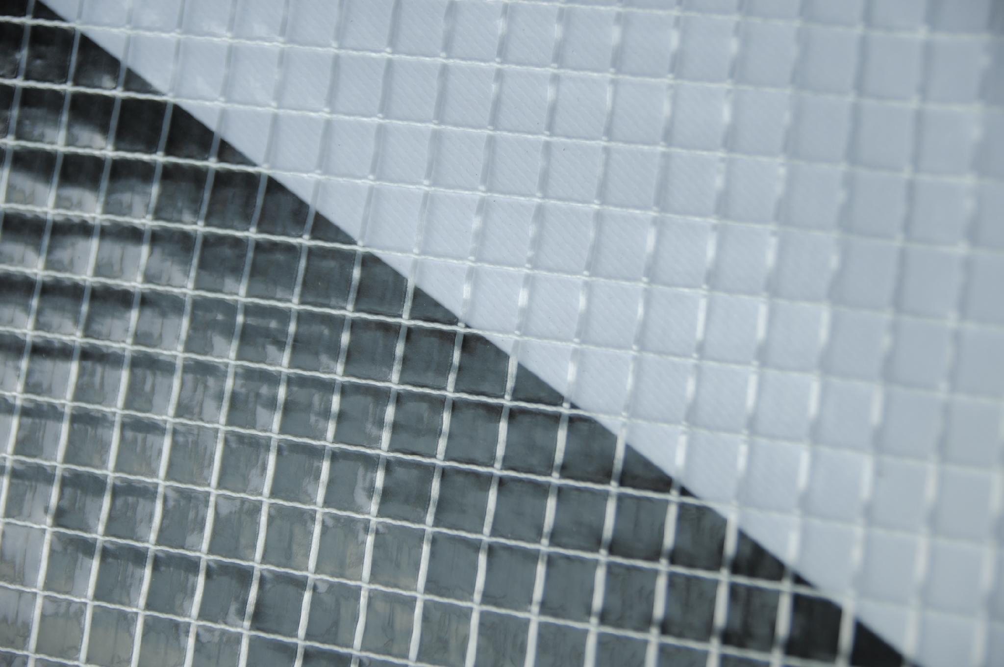 婴儿水池透明PVC夹网布 5