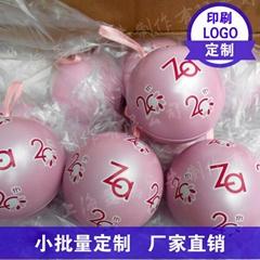 马口铁创意礼盒圣诞球糖盒圆球形喜糖盒子可印logo