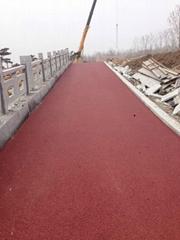供应广州彩色沥青路面专用铁红色粉颜料