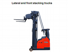 1.3-1.5 tons Lateral and front stacking trucks