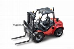 3.5 ton 4 wheel drive rough terrain forklift