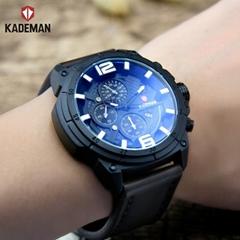 Kademan Oem Fashion Branded Analog Sport leather Quartz  watch