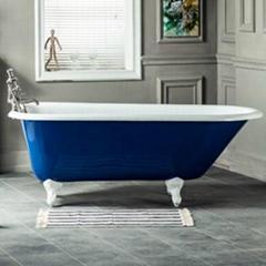 clawfoot roll top cast iron bathtub