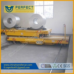 Steel plant electric rail motorised  ferry transfer cart