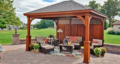 luxury garden wooden whirlpool pavilion outdoor wooden garden gazebos