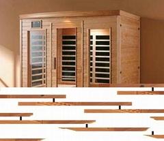 beautiful wooden health sauna steam room design