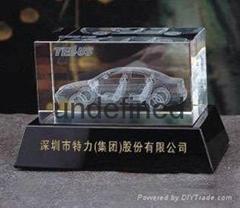 水晶汽車內雕擺件