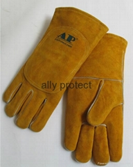 2017 back with double leather welding gloves with more protection and durability