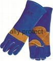 NEW design welding gloves with split