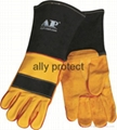Suede leather TIG gloves with top grain