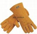 Unique Design Leather Welding Gloves