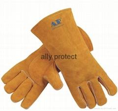 Unique Design Leather Welding Gloves durable gloves