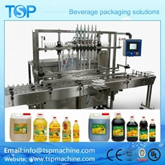 Automatic Linear Cooking Edible Olive Sunflower Oil Filling Machine