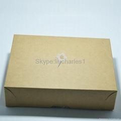 Custom flower pattern kraft paper packaging box