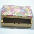 Custom flower pattern kraft paper packaging box 4