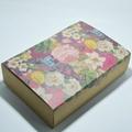 Custom flower pattern kraft paper packaging box 5