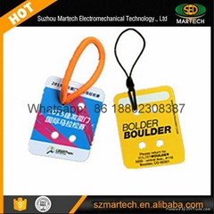 Rfid Race Timing Bib Tag with Chips Number Printing with 3 M Sticker